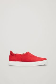 COS image 1 of Slip-on leather sneakers in Red