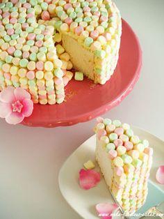 How to make this Springtime Cake! Angel Food Cake with Lemon Whipped Cream!