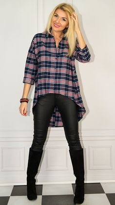 Confident Woman, Photo Sessions, Leather Pants, My Style, How To Wear, Outfits, Women, Fashion, Tunic