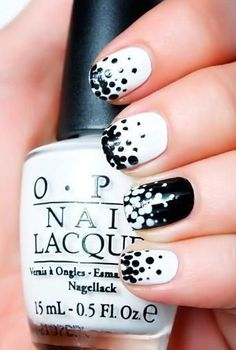 8 Black and White Nail Art Designs