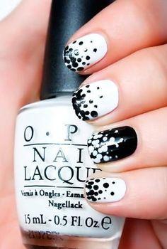 8 Black and White Nail Art Designs