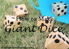How to make Giant Dice. This looks like so much fun! | alittlepeaceofhome.com