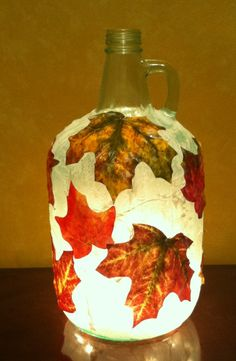 How To Drill Wine Bottles | Fall Bottle Light www.drillglass.com