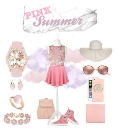 """Romantic Summer"" by esther-d on Polyvore featuring Pomellato, BaubleBar, New Look, Miss Selfridge, Moschino, Gucci, Kate Spade, Ray-Ban, Jessica Carlyle and Nine West"
