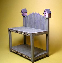 DIY Potting Bench | Potting Bench Birdhouse Toppers: