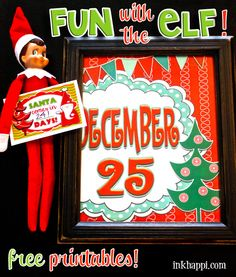 It is time to have some Holiday FUN and FUN with the ELF! The printables I am sharing today do not have to be for Elf on the Shelf ... Yay for all the Elf