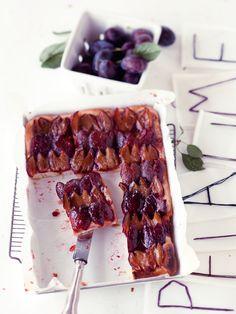 Rezept: Zwetschgen-Blechkuchen