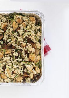 Chicken Tetrazzini with Zucchini Noodles via Inspriralized