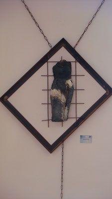 Poppets Frauentorso im Eisenrahmen Clay, Pottery, Ceramics, Frame, Home Decor, Art, Objects, Sculptures, Ceramica