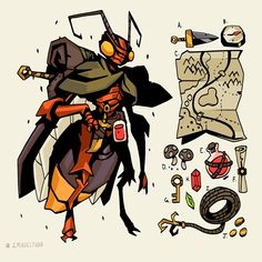 ArtStation - Bug World - Worldbuilding through character design, Studio Character Creation, Character Concept, Character Art, Creature Concept Art, Creature Design, Dnd Characters, Fantasy Characters, Creature Drawings, Insect Art