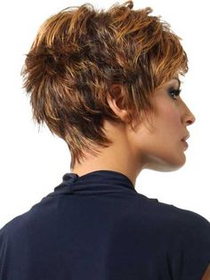 Thick Short Pixie Hair Back View