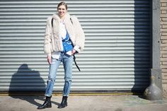 Contrast a tailored blazer with a pair of ripped jeans and Chelsea boots.