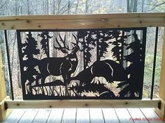 Wildlife railing insert Deck Big Buck - Kodiak Metal Works, Deck, Porch