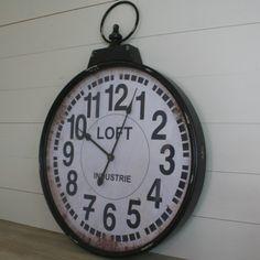 Horloge Deco Rétro Style Industriel