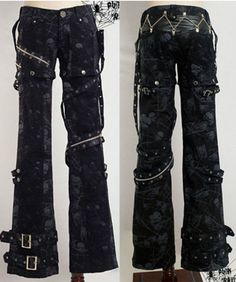 New sexy visual kei PUNK gothic rock removalbe pants #punkrave #PantSets