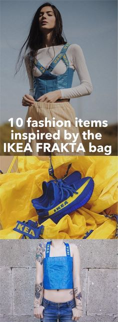 The IKEA blue bag is having its moment. Since the Balenciaga tote, it's been elevated from functional carry-all to caps, shoes to lingerie (ouch!).  http://www.ikeahackers.net/2017/05/no-stopping-blue-bag.html