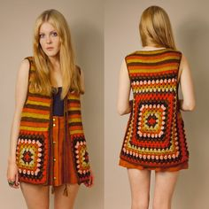 We continue to share our latest knitting shares without slowing down. In this article you are waiting for the summer crochet dress patterns. Granny Square Häkelanleitung, Granny Square Crochet Pattern, Crochet Patterns, Crochet Summer Dresses, Summer Dress Patterns, Crochet Jacket, Crochet Blouse, Easy Crochet, Knit Crochet
