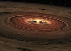 Vortices arise from dead zones in disks around newly forming stars. The zombie vortices destabilize the disk's gas, which falls onto the star and helps it complete its formation. Image courtesy of NASA/JPL-Caltech.