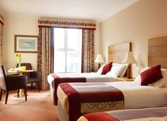 The Maldron Hotel in Galway is a luxurious, newly renovated, family friendly 4 star hotel set in the picturesque Oranmore. Family Rooms, Hotels, Europe, Holidays, Luxury, Bed, Furniture, Home Decor, Holidays Events