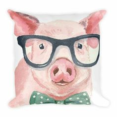 This pillow makes a perfect addition to any pig lover's home! Buy here: http://agristyleapparel.com/products/bow-tie-pig-pillow
