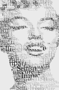 Typography marilyn monroe artworks illustrations