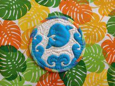 Dolphin, Hawaiian Quilt / Coaster 2014.3