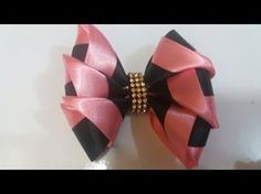 Laço de cetim duas cores - YouTube Bow Wow, Boutique Hair Bows, How To Make Bows, Diy Videos, Hair Clips, Headbands, Diy And Crafts, Lily, Purple