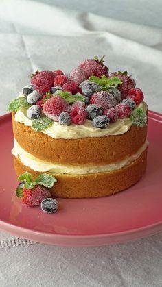 Simple Naked Cake ~ Recipe | Tastemade