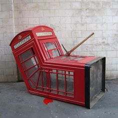 banksy phone booth