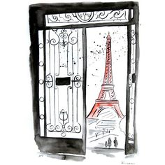 Watercolor Painting Original Paris - Eifel tower (425 PLN) ❤ liked on Polyvore featuring home, home decor, wall art, paris, backgrounds, drawing, fillers, illustration, parisian wall art and watercolor illustration