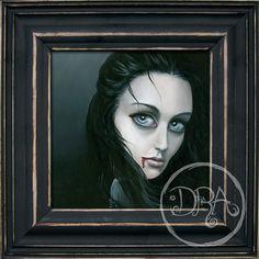 The Vamp Orignal Painting on Panel by deannaadona on Etsy, $350.00
