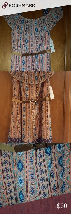Girls dress size 16 NWT Great spring and summer dress! Cute pattern and stylish cold shoulder look! My Michelle Dresses