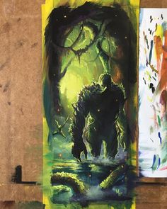Swamp Thing by Meghan Hetrick #swampthing #makecomics #comics #gouache #paint #art @dccomics