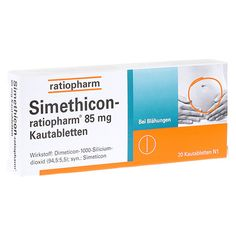 Simethicon-ratiopharm 85mg 20 Stück N1