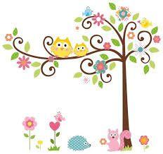 Popular XL Wandtattoo Wandsticker Eule Baum Giraffe L we Kinderzimmer Baby Tapeten Pinterest Babies and Giraffes