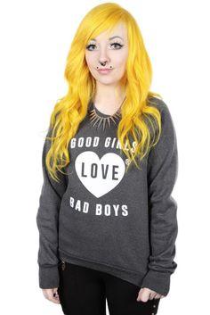 Good girls love bad boys. Is that so? ;) Sooo cute!