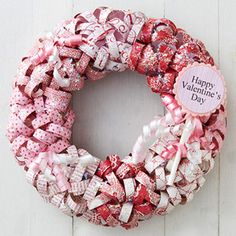 Create a Paper Wreath- Curl strips of patterned paper by wrapping them around a pencil, then hot-glue them to a foam circle to create a pretty paper wreath.