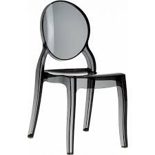 Image result for clear black ghost chair