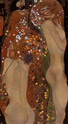 Cheers to the human form, and how it continues to inspire. Water Serpents II by Gustav Klimt, 1904.