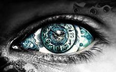 clock eyes, steampunk