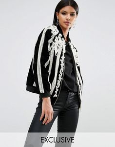 Shop A Star Is Born Beaded Bomber Jacket with Pearls. With a variety of delivery, payment and return options available, shopping with ASOS is easy and secure. Shop with ASOS today. Asos, Manga Raglan, Style Minimaliste, Beaded Jacket, A Star Is Born, Minimal Fashion, Minimal Style, Fashion Online, Jackets For Women