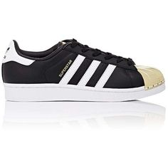 adidas Women's Women's Superstar 80s Leather Sneakers ($100) ❤ liked on Polyvore featuring shoes, sneakers, adidas, perforated leather sneakers, 80s sneakers, adidas sneakers, leather lace up sneakers and 80s shoes