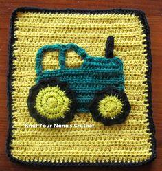 Tractor Applique / CROCHET / beginner