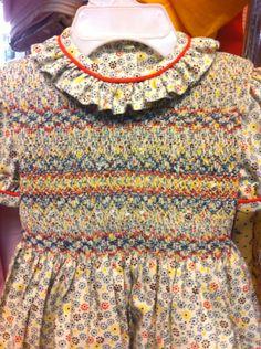 Vestido algodón estampado.  Detalle. Feb 2015 Alumna