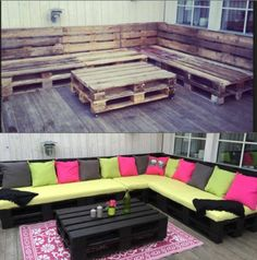 DIY crate lounge for outside
