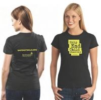 Safe Not Sold T-shirt Yellow Imprint