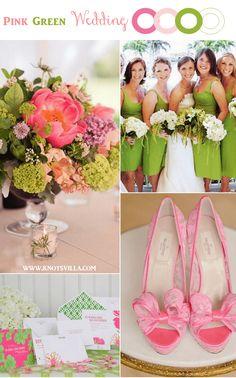 Pink and Green Wedding Inspiration » KnotsVilla