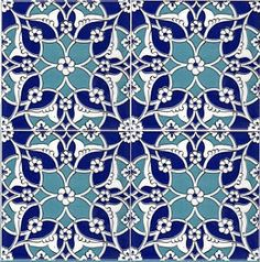 Set of 4 Ayse Turkish Tiles Islamic Patterns, Tile Patterns, Textures Patterns, Turkish Tiles, Moroccan Tiles, Moroccan Lanterns, Portuguese Tiles, Moroccan Decor, Islamic Tiles