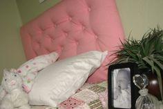 Pink Diamond Tufted Twin Headboard by BedheadDesigns on Etsy, $129.00