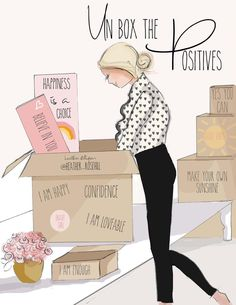 Un box the POSITIVES.no space for negativity when we have positive un boxing to do! Positive Quotes For Women, Positive Thoughts, Positive Vibes, Sunday Quotes, Good Morning Quotes, Woman Quotes, Life Quotes, Motivational Quotes, Inspirational Quotes